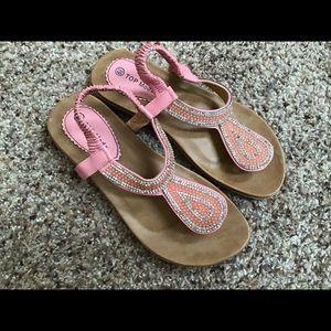 Women's Pink Thong Sandals sz 6.5